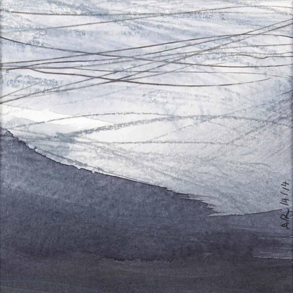 10 x 10 cm aquarelle et crayons sur papier, 14 jan 14