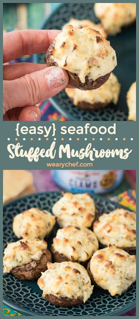Easy Seafood Stuffed Mushrooms