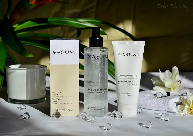 Yasumi Rice - mój codzienny rytuał pielęgnacyjny.Odżywczy krem, Odżywczo-rozjaśniający peeling i Delikatny żel do twarzy