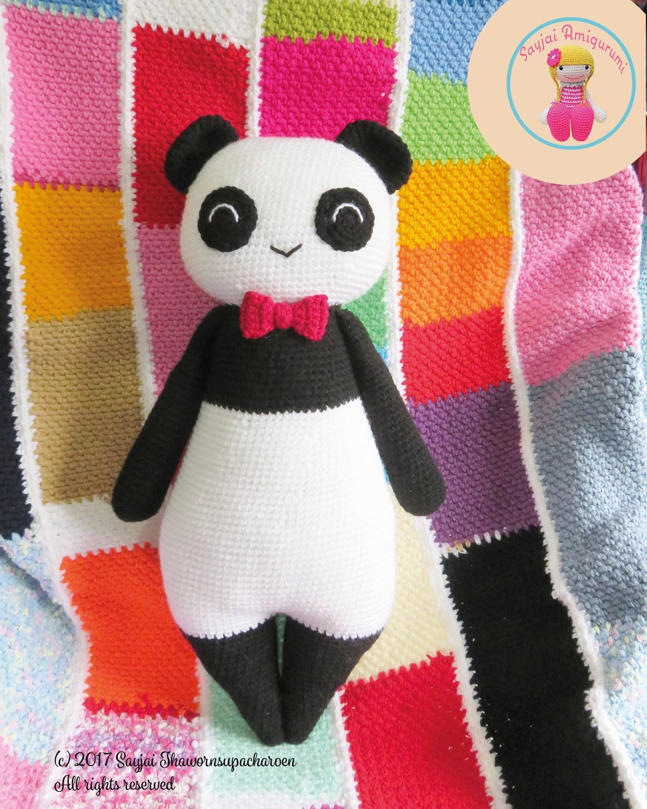 Grote Pandabeer Amigurumi Haakpatroon Amigurumi Haak Patronen