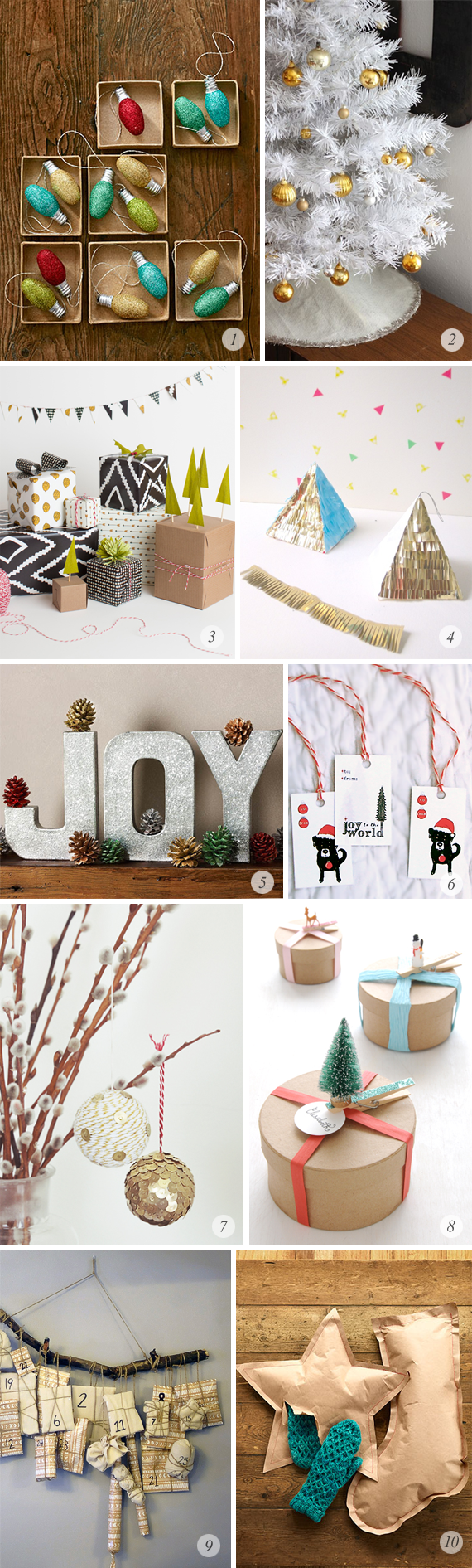 10 Great Holiday DIY Projects // Bubby and Bean