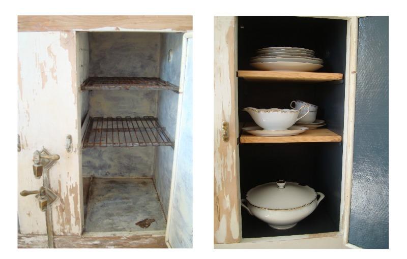 Aparadores y muebles restaurados. neveras de hielo vintage para decoración