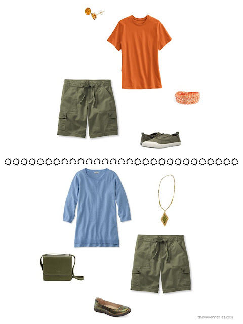 2 accent color ideas to wear with olive green