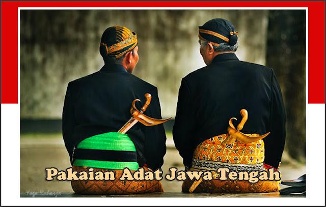 Gambar Pakaian adat pria Jawa Tengah mengenakan keris