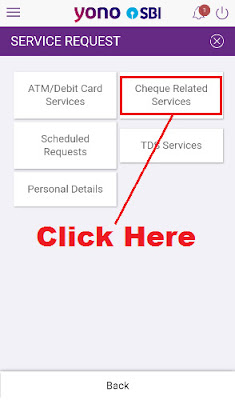 how to apply for cheque book for sbi account through sbi yono app