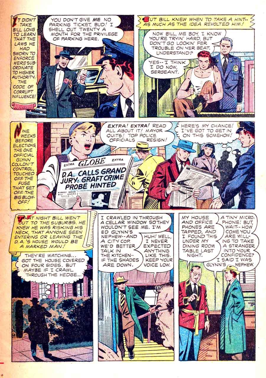 Authentic Police Cases v1 #11 st john crime comic book page art by Matt Baker
