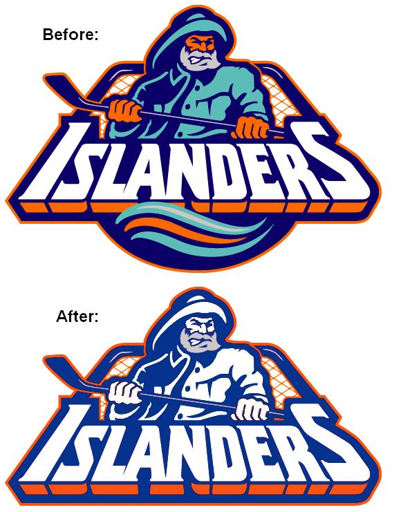 the latest a615c 7cec6 The Sports Fiddler: New York Islanders Fisherman Logo, Take 2