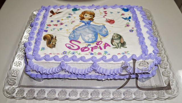 Bolo com papel arroz da Princesa Sofia