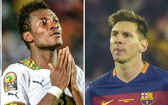 [Video] Lionel Messi heaps praise on Asamoah Gyan
