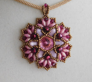 Floral-Cluster-Ruby-Beaded-Pendant-Designs