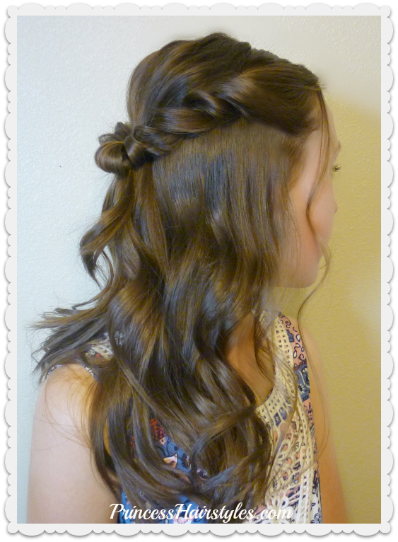 Prom Hairstyle Romantic Twist Half Up Hairstyles For Girls