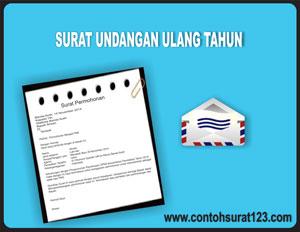 Gambar Contoh Surat Undangan Ulang Tahun Dalam Bahasa Inggris