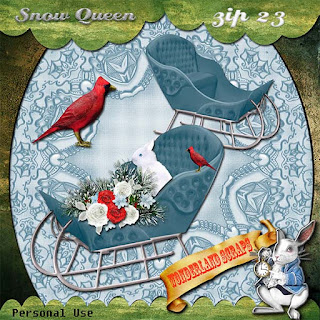 Spring like day and more Snow Queen freebie