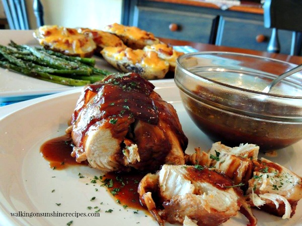 Bacon Wrapped Crock Pot BBQ Chicken from Walking on Sunshine Recipes.