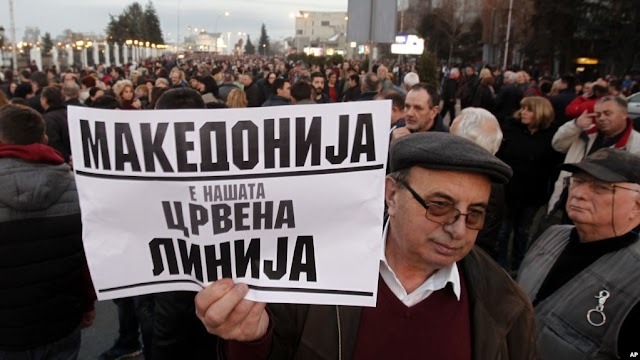 Thousands Protest Wider Use of Albanian Language in Macedonia