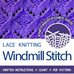 HOW TO KNIT Windmill knit stitch. #howtoknit #knitstitch