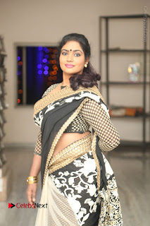 Telugu Actress Jayavani Jayavani Stills in Black Saree at Intlo Deyyam Nakem Bhayam Success Meet  0023.JPG