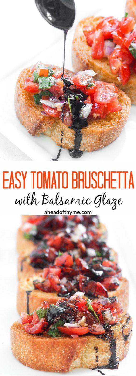 Easy Tomato Bruschetta Wíth Basamíc Glaze