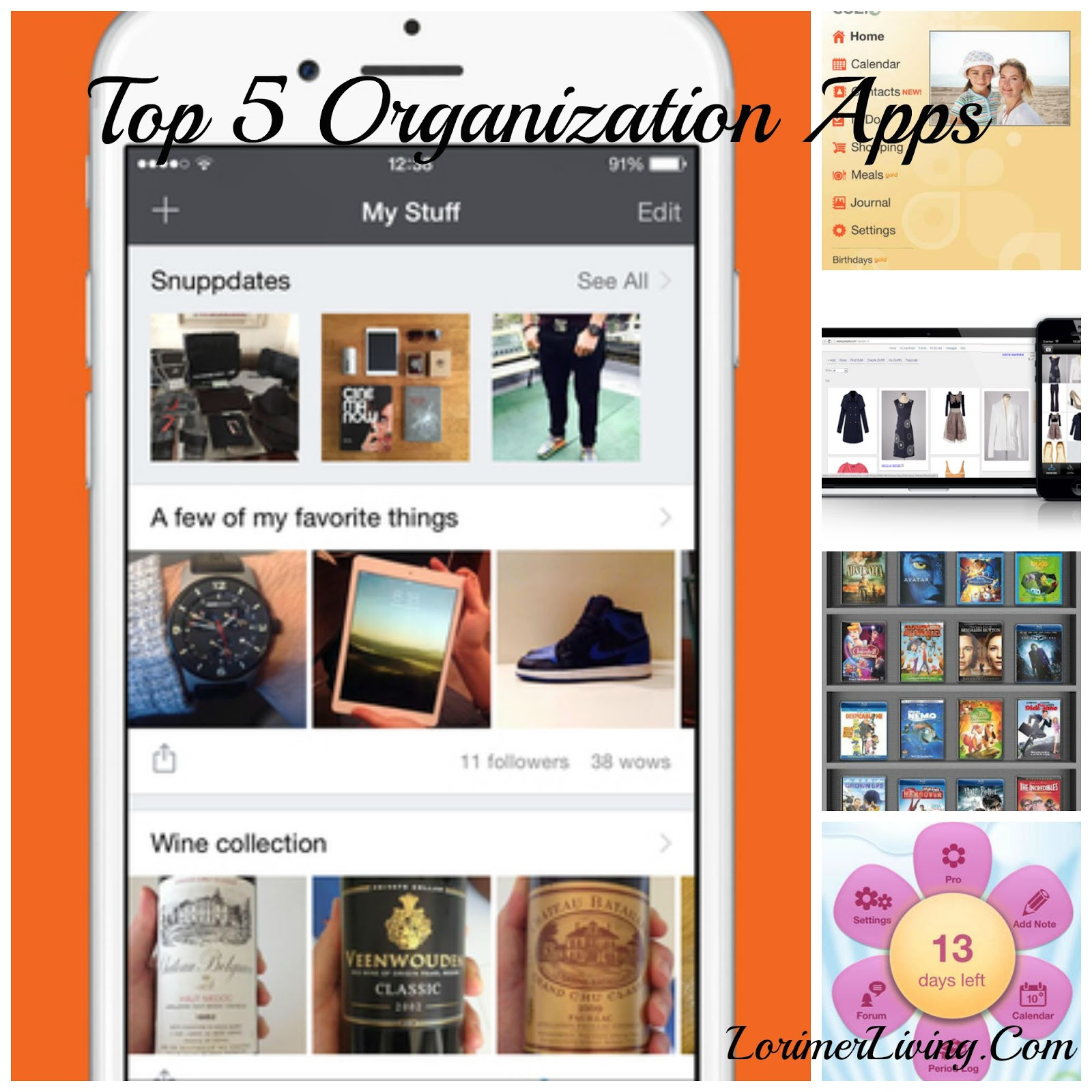 My 5 Top Organizing Apps