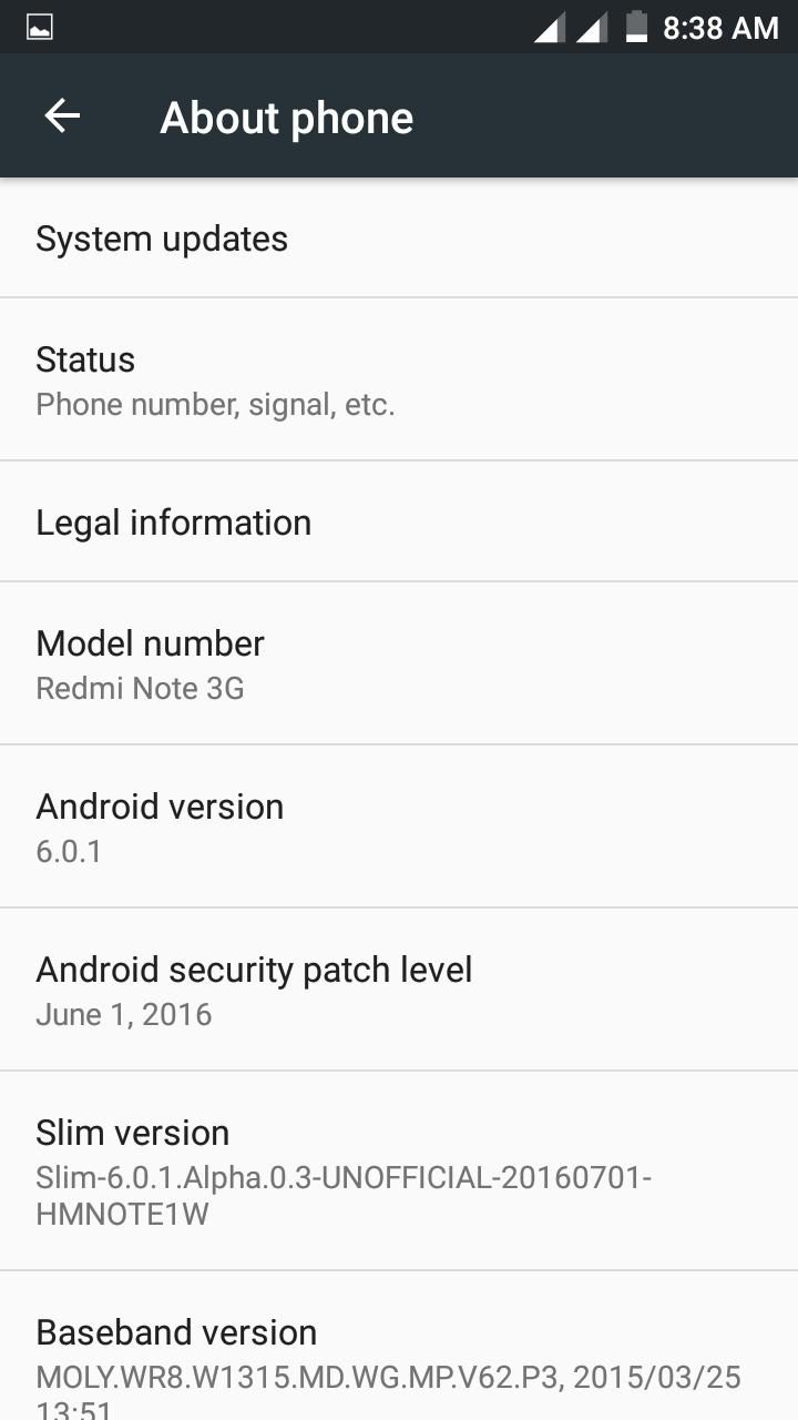 6 0 1] Slim ROM (AOSP) For Redmi Note 3G - Redmi Note 3G - Xiaomi