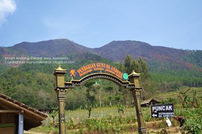 jalur pendakian gunung andong