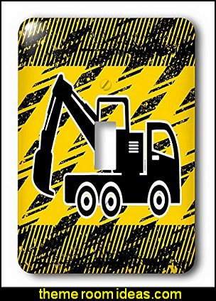 Big Crane Truck in Black and Yellow - Light Switch Covers
