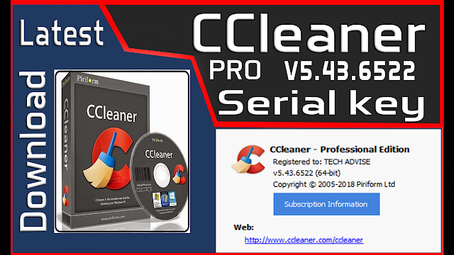 ccleaner professional product key 2018