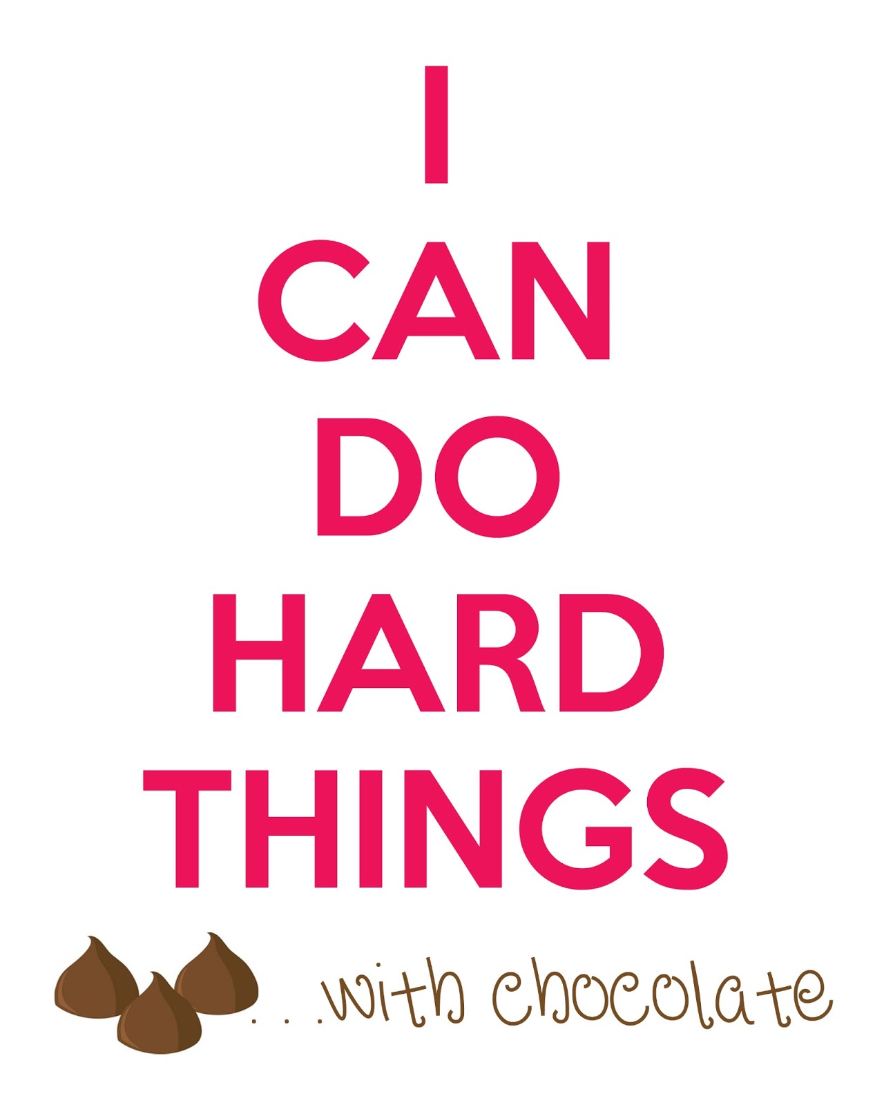 Polkadots On Parade: I Can Do Hard Things...with CHOCOLATE