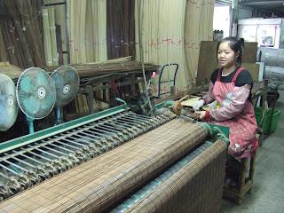 臺灣僅存的專業竹簾工廠: 竹簾加工過程