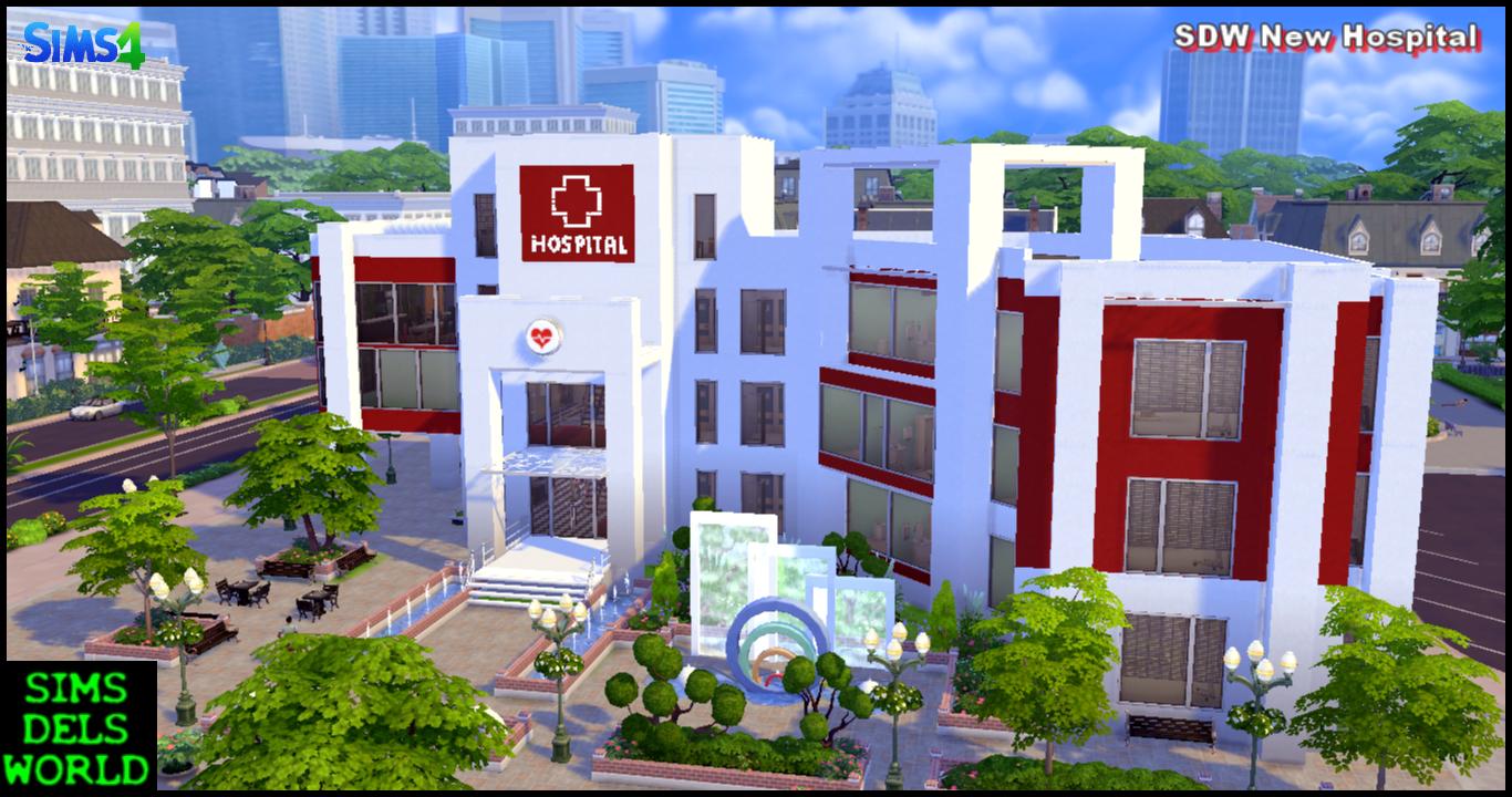Simsdelsworld The Sims 4 Sdw New Hospital