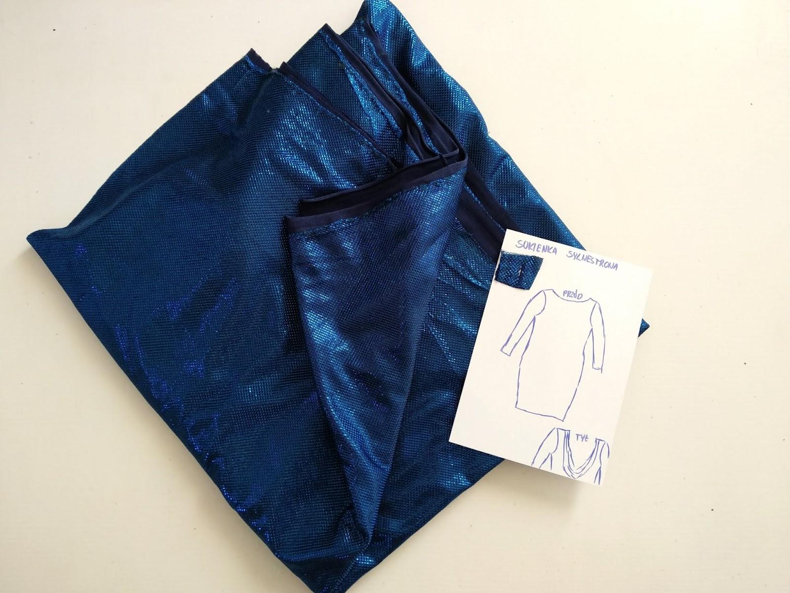 Kolor i błysk, czyli sukienka sylwestrowa- instrukcja szycia