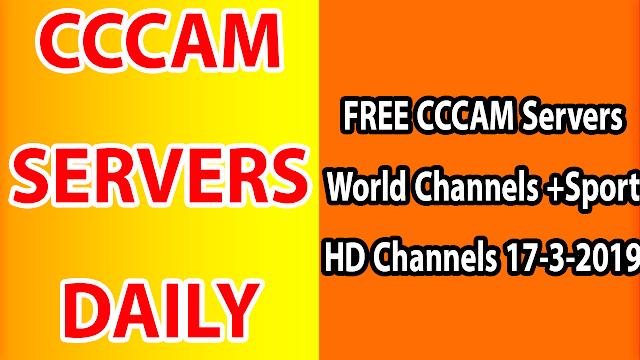 FREE CCCAM Servers World Channels +Sport HD Channels 17-3-2019
