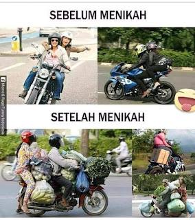 Meme lucu biker sebelum dan sesudah nikah .....
