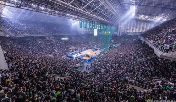 παο μπασκετ Image: Ένα απίστευτο Video με 30.000 οπαδούς του Παναθηναϊκού να