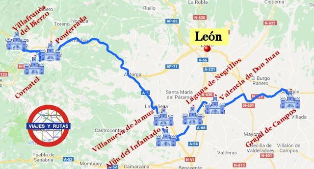 Ruta de los 8 castillos mejor conservados de la provincia de León