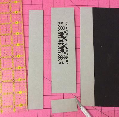 Sizzix deer die cut paper leather cuff stefanie Girard jewelry