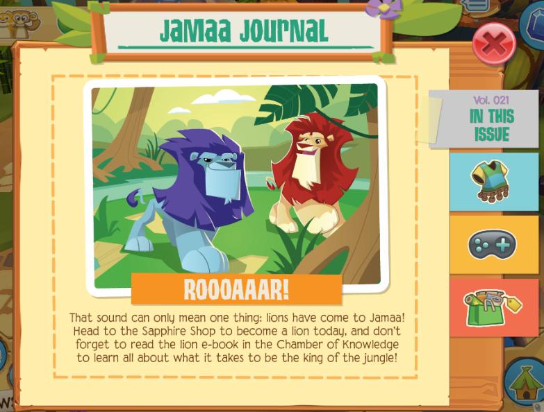Animal Jam Spirit Blog: Lions Call Play Wild Home