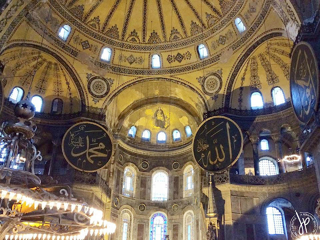 muslim and catholic images at Hagia Sophia