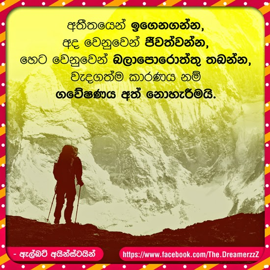 Sinhala Quote Albert Einstein Creativebug