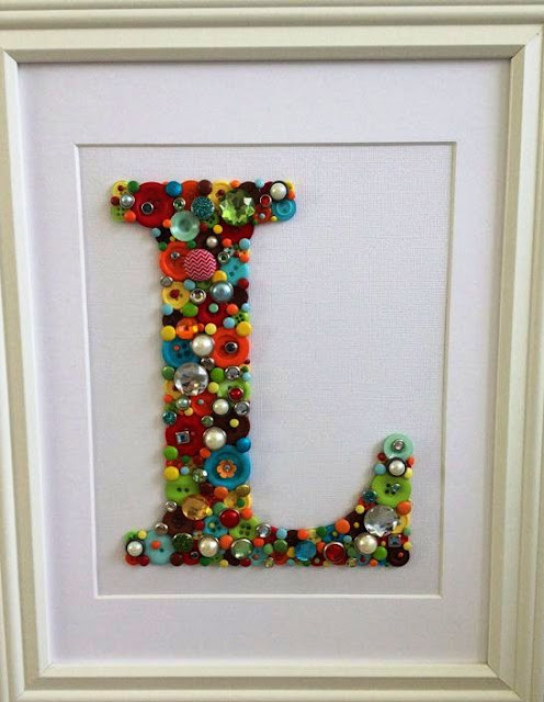 alphabet button craft ideas