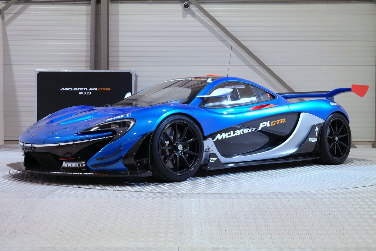 beautiful bright blue road legal mclaren p1 gtr for sale. Black Bedroom Furniture Sets. Home Design Ideas
