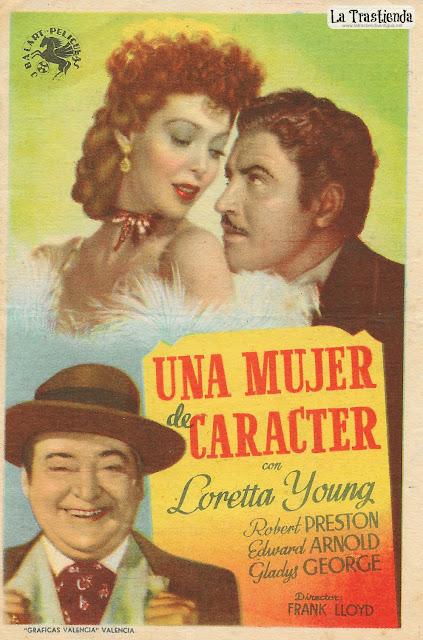 Una Mujer de Caracter - Programa de Mano - Loretta Young - Robert Preston