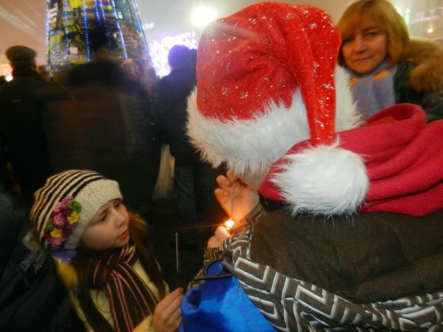 Новый год 2014. Майдан. Киев