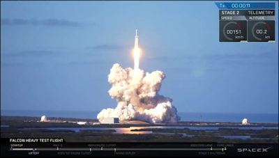 SpaceX Falcon Heavy launching