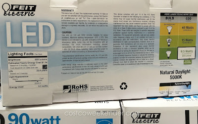Costco 736223 - Save on your energy bill with the Feit Electric BR30 LED Flood Light Bulb