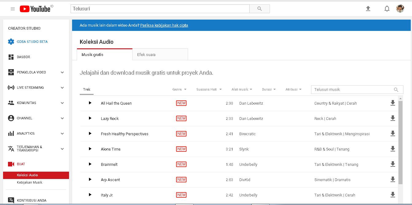 Cara Agar Musik Di Video Youtube Tidak Kena Copyright