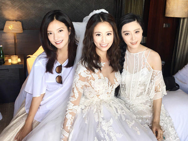 Vicky Zhao Wei, Fan Bing Bing and Ruby Lin at her wedding