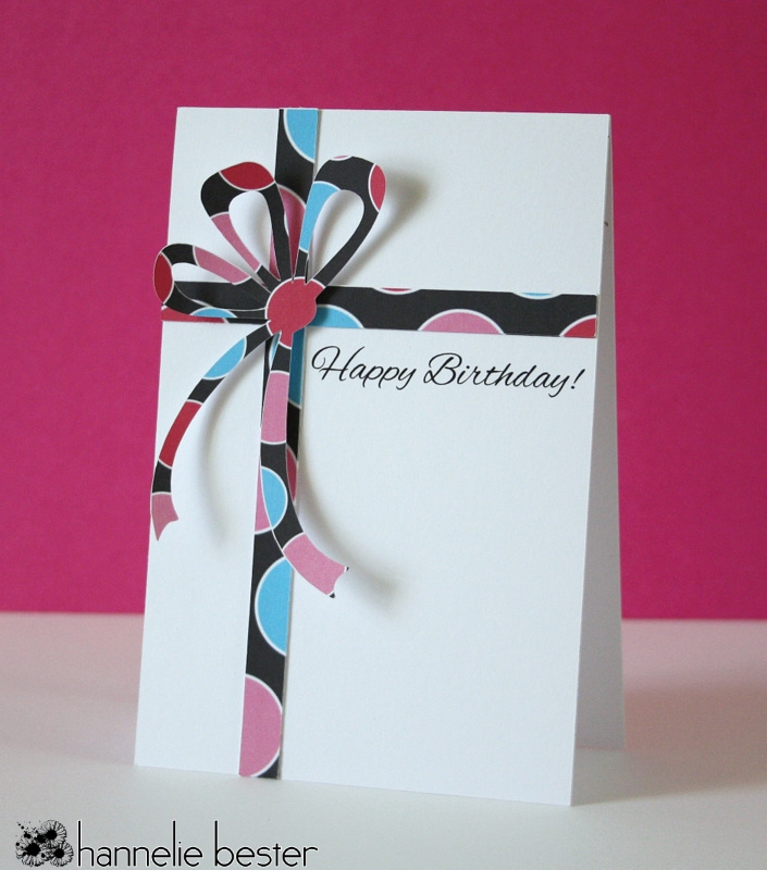 wrapped gift birthday card