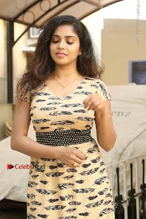 Telugu Actress Karunya Chowdary Stills in Short Dress at ATM Not Working Press Meet  0005.jpg