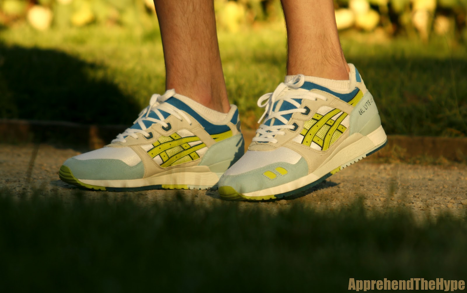 timeless design fa880 0b0f8 apprehend the hype: Asics Gel Lyte iii - White / Lime / Blue